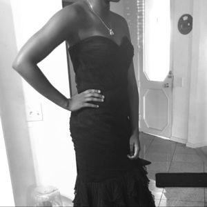 Long formal strapless dress